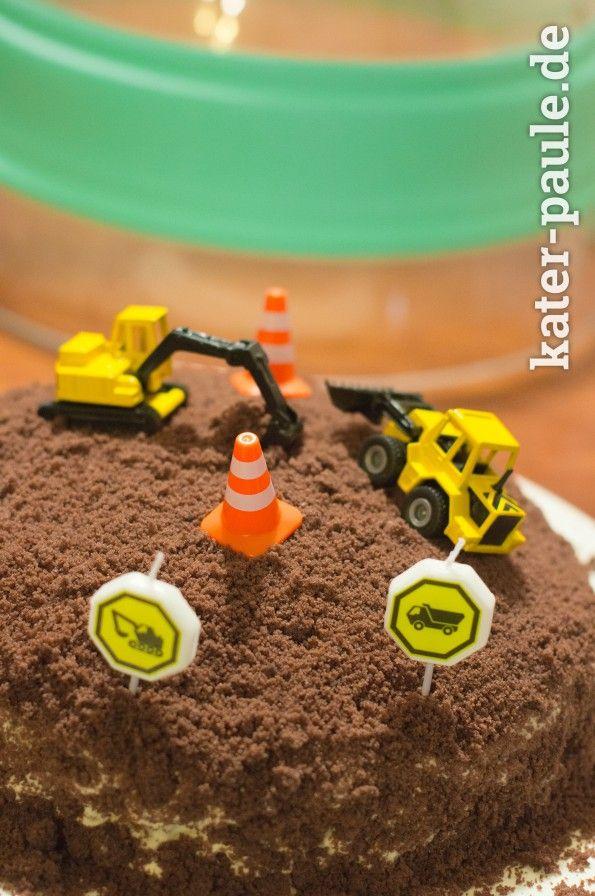 Baustellentorte | Maulwurfkuchen | Baustelle | Geburtstagskuchen | Motivtorte | Jungsgeburtstag | Kater Paule backt