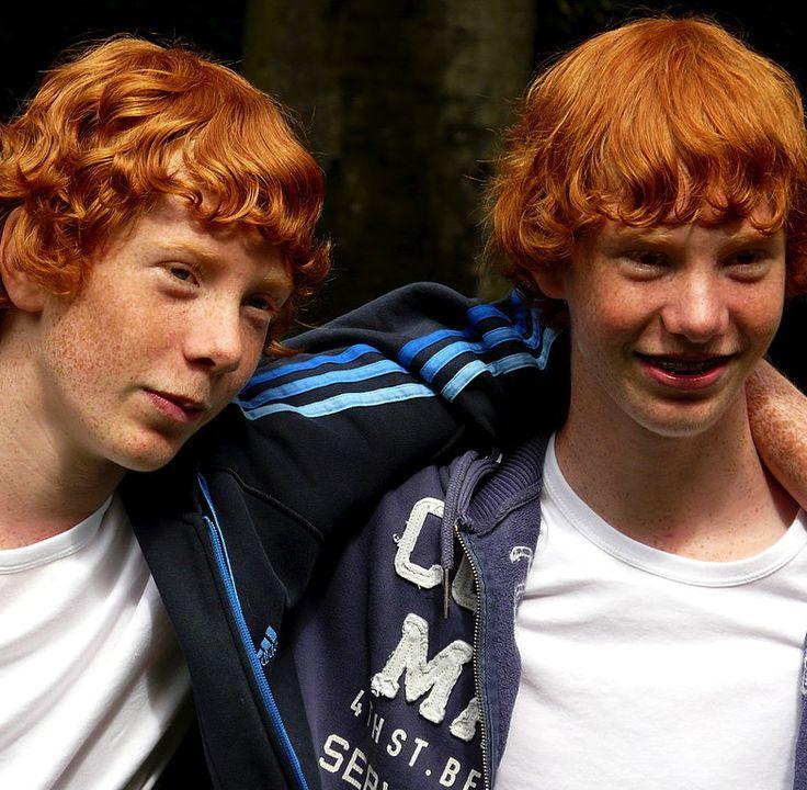 Redhead male twins