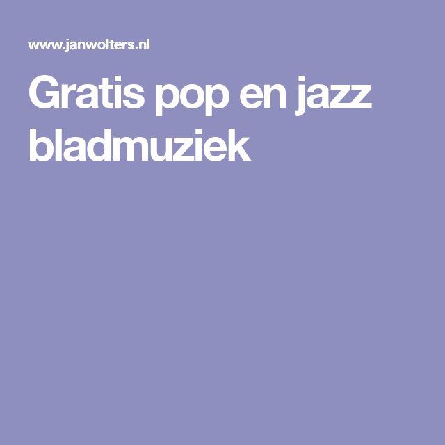 Gratis pop en jazz bladmuziek