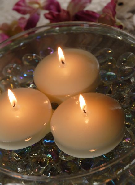 """Centerpieces: 3"""" Floating Candles Ivory   12 for $15.48 / $1.29 each: Floating Candles, Floating Teas, Ivory 3In, Teas Lights, 3In Packs, Lights Ivory,  Taper, Tealight Ivory, Floating Tealight"""