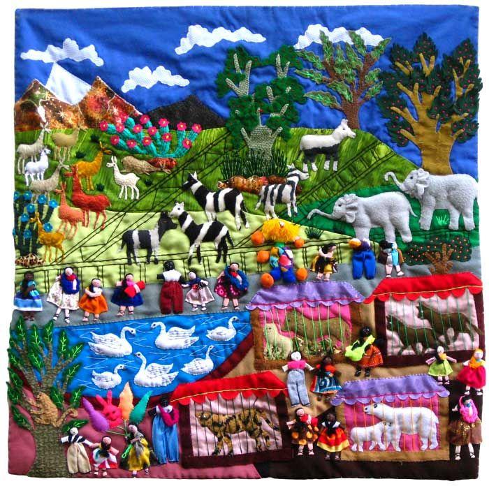 Arpillera tapestry from Peru