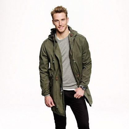 J. Crew Cotton fishtail parka. Modern version of the classic fishtail parka  that's cut. Mens Parka JacketParka ... - Top 25+ Best Green Parka Mens Ideas On Pinterest Mens Quilted