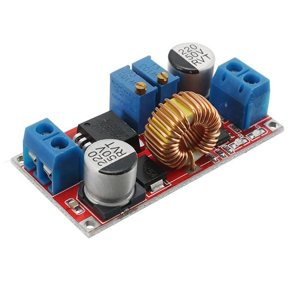 5pcs Output 1.25-36V 5A Constant Current Constant Voltage Lithium Battery Charger Step Down Power Supply Module LED Driver High Power Low Ripple High Efficiency Short Circuit Protection Function
