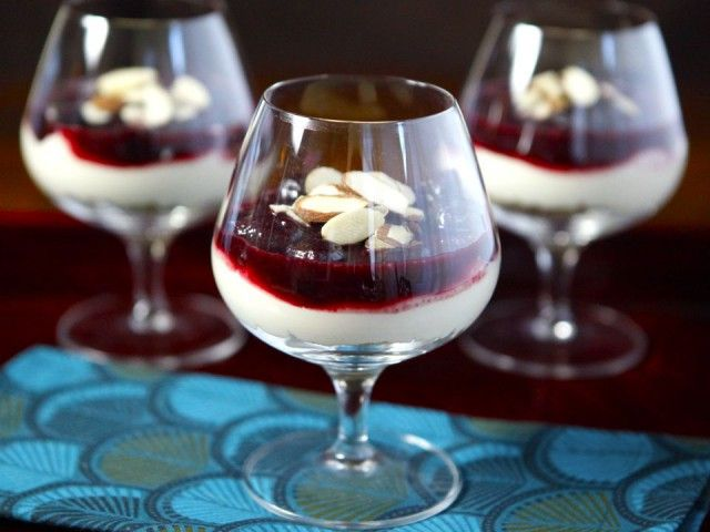 Cherry Cheesecake Shooters from Ree Drummond's new cookbook, The Pioneer Woman Cooks - A Year of Holidays  Dairy, Desserts,  The Shiksa in the Kitchen, Tomato Free, Vegetarian
