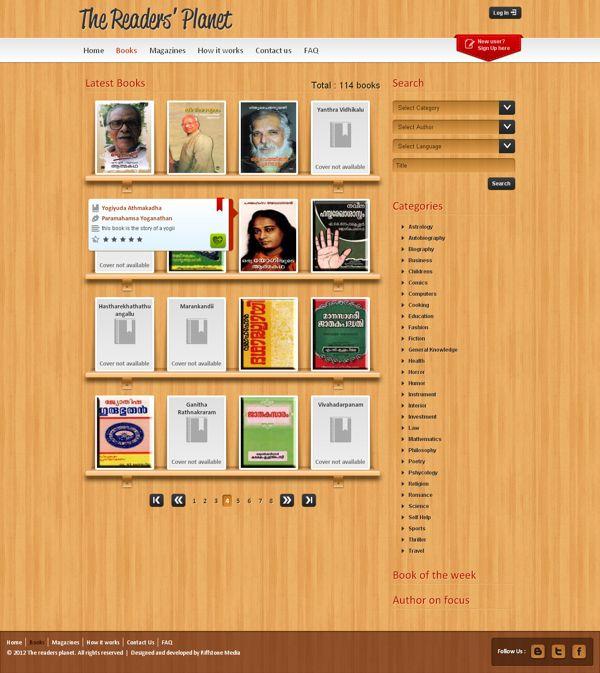Website design for an online library management system. | • Web La ...