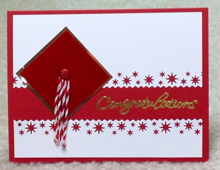 Super Simple grad card seen on Pinterest by cards4joy - Cards and Paper Crafts at Splitcoaststampers