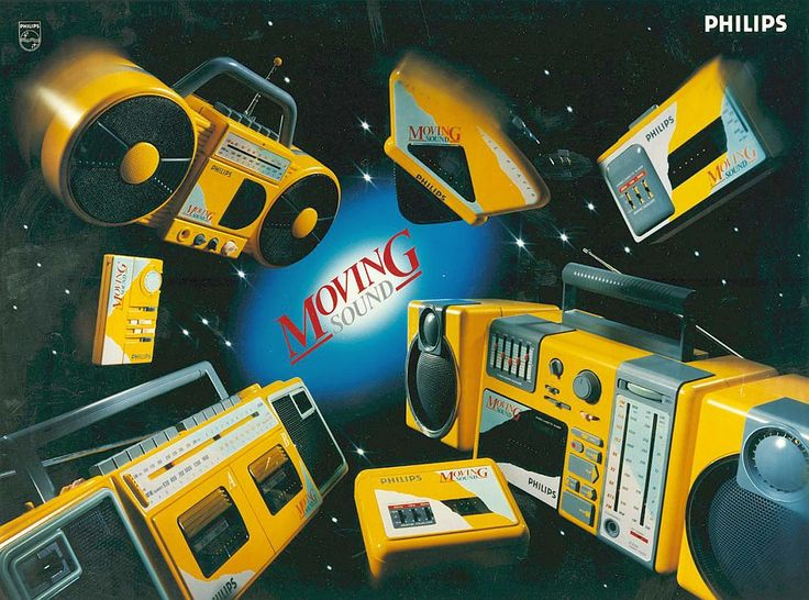 And it was all yellow. PHILIPS Moving Sound 1997 www.1001hifi.com