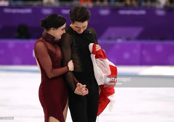 2018 02 Tessa and Scott secure their 2nd gold medal at Pyongyang.