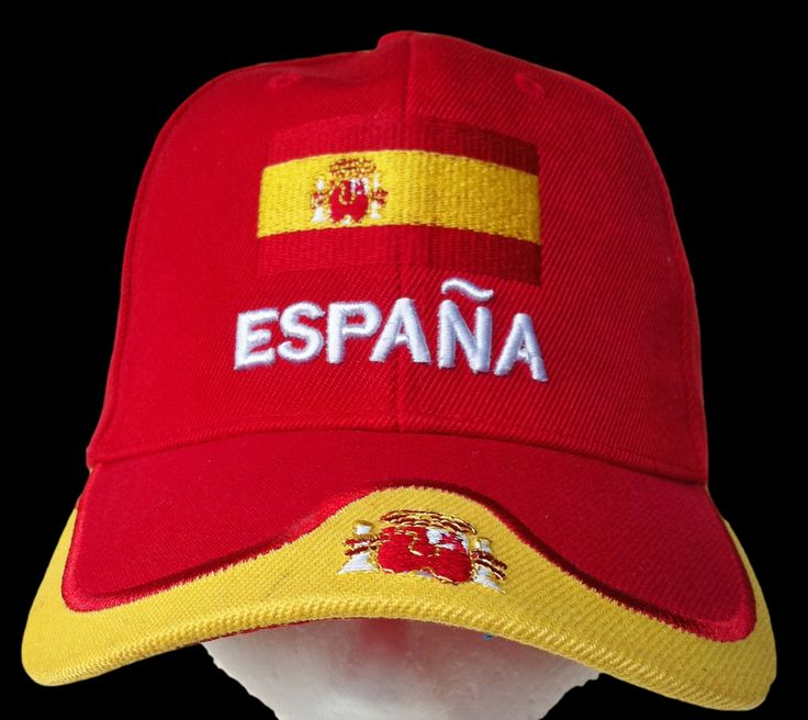 SPAIN ESPANA ES SOCCER TEAM FLAG ALL STAR SPORT CAP HAT #espana #spain #spanish #esapanhat #espanacap #spainhat #spaincap #baseballcap #baseballhat #cap #hat