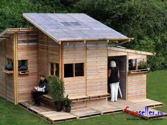 Как построить дом из поддонов