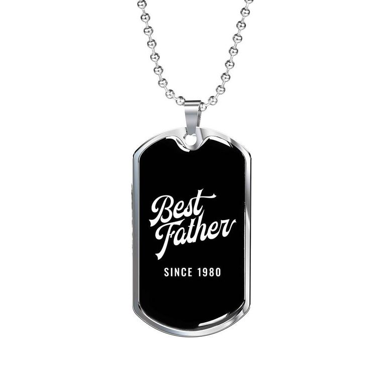Funny DILF Military Style Dog Tag Pendant Jewelry Necklace Dad Father Husband