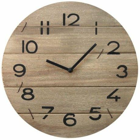 Shabby Chic Wooden Driftwood Wall Clock ~ 35Cm Wooden Wallclock