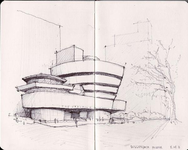 Sketches de Arquitetura por Cristián Bascuñán