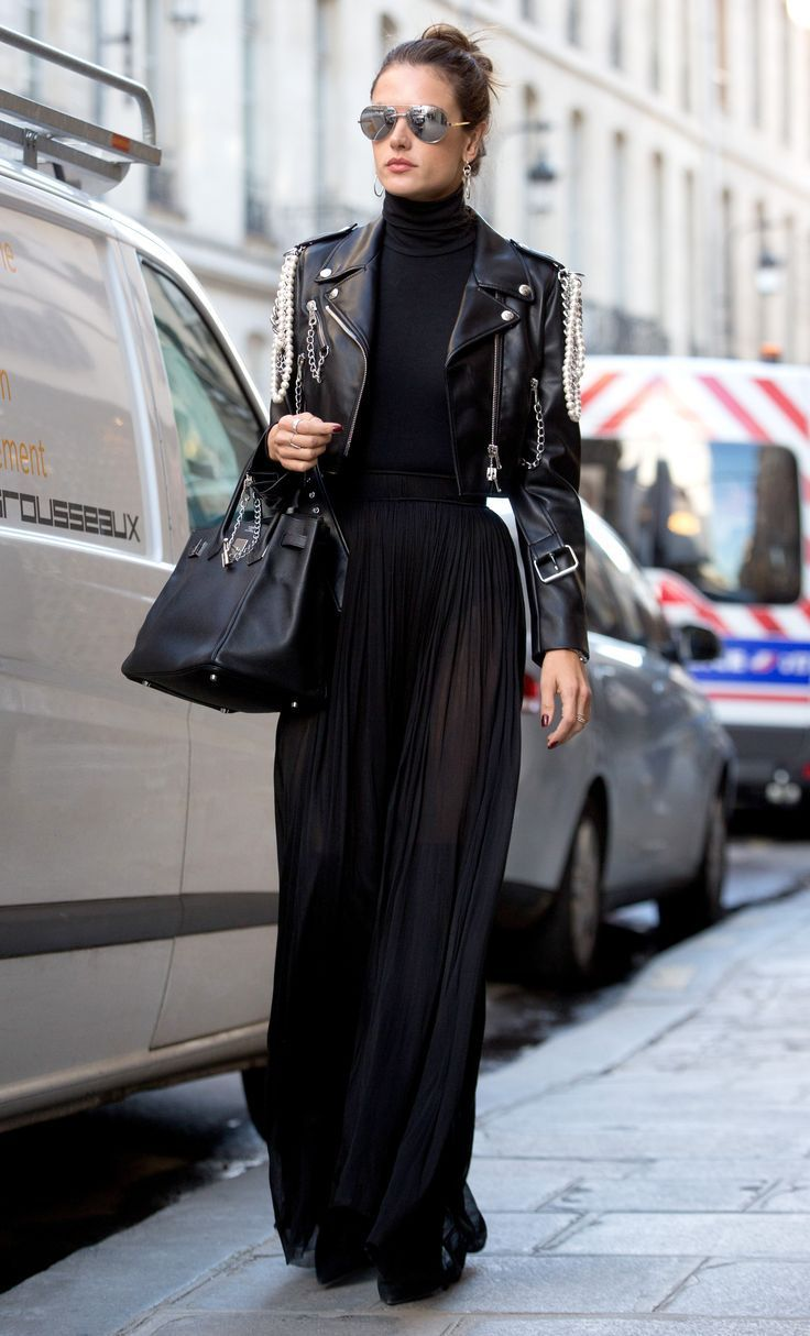This Is the Coolest Way to Wear a Maxi Skirt in Winter via /WhoWhatWear/