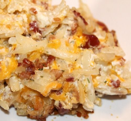 Loaded Baked Potato Casserole-delish!!! it was super easy and tasted wonderful. would be good for a potluck dinner!