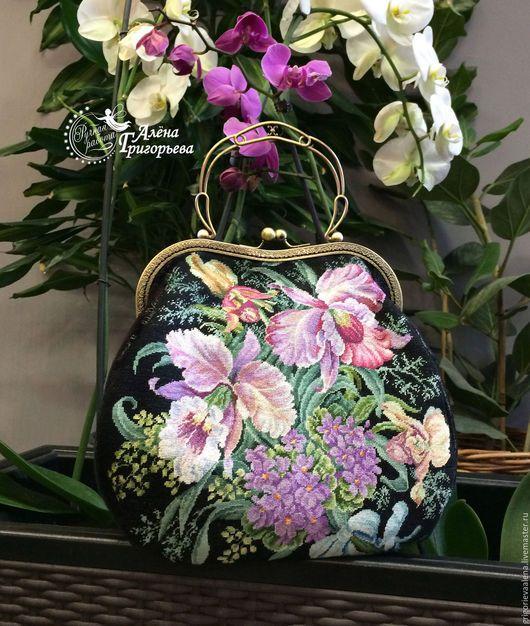 """Сумки Алена Григорьева. Купить Сумочка """"Королевские орхидеи"""" - сумка ручной работы, сумка женская, Сумка с вышивкой"""