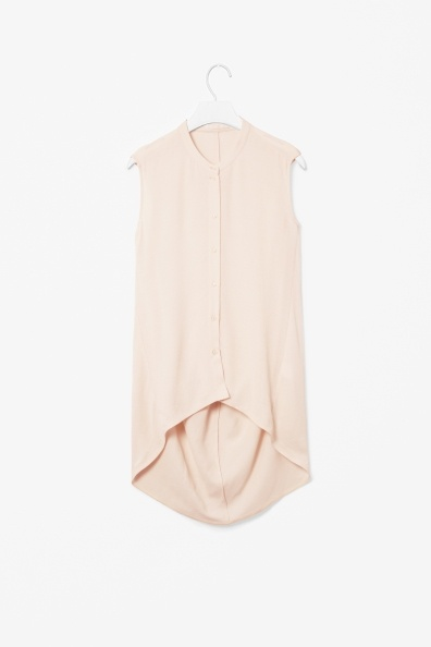 Nude button up sleeveless