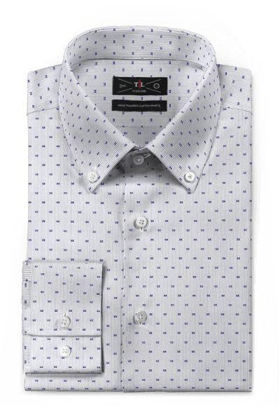 Blue micropattern 100% cotton Shirt http://www.tailor4less.com/en-us/men/shirts/3097-blue-micropattern-100-cotton-shirt