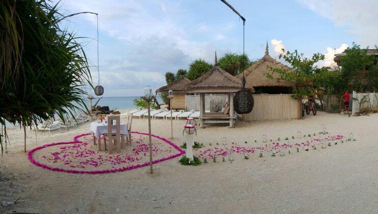 Romantic dinner arranged by Mahamaya Resort - Gili Meno Lombok