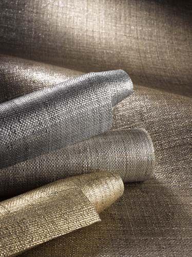 Maxs Metallic Rafia - Crown Wallpaper + Fabrics