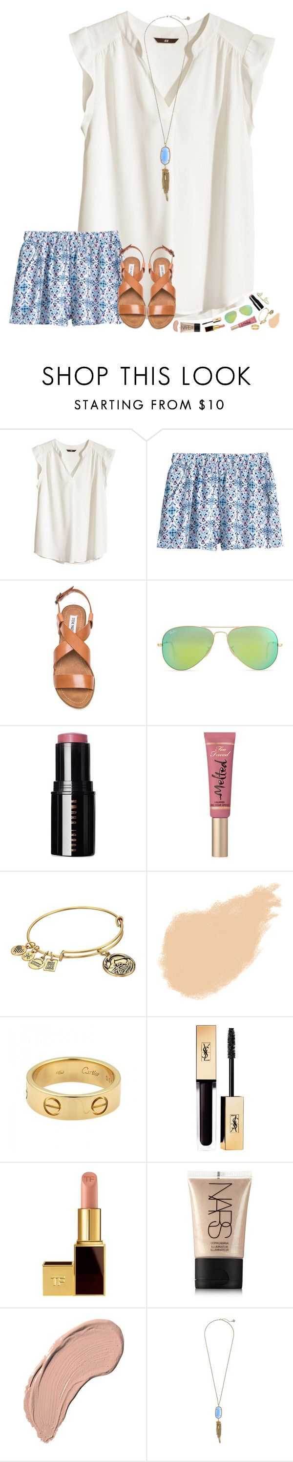 """currently streaming YouTube to my tv and online shopping "" by hopemarlee ❤ liked on Polyvore featuring H&M, Steve Madden, Ray-Ban, Bobbi Brown Cosmetics, Too Faced Cosmetics, Alex and Ani, NARS Cosmetics, Cartier, Tom Ford and NYX"
