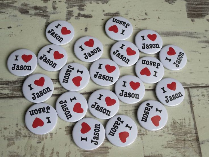 A great set of personalised I ❤️ badges for a lovely customer. Did you know … – Button badges