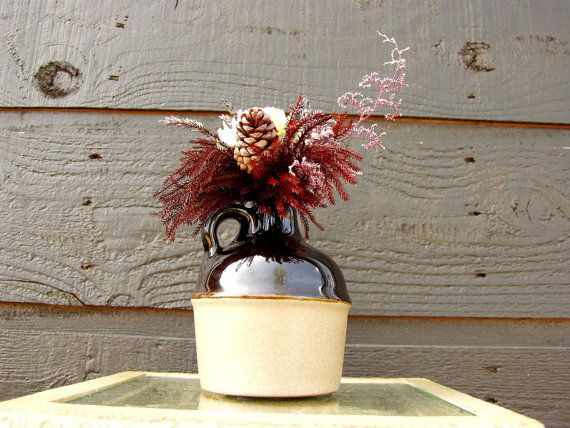 Country Mini Moonshine Jug with Dried by SmokyMtnWoodcrafts, $19.00