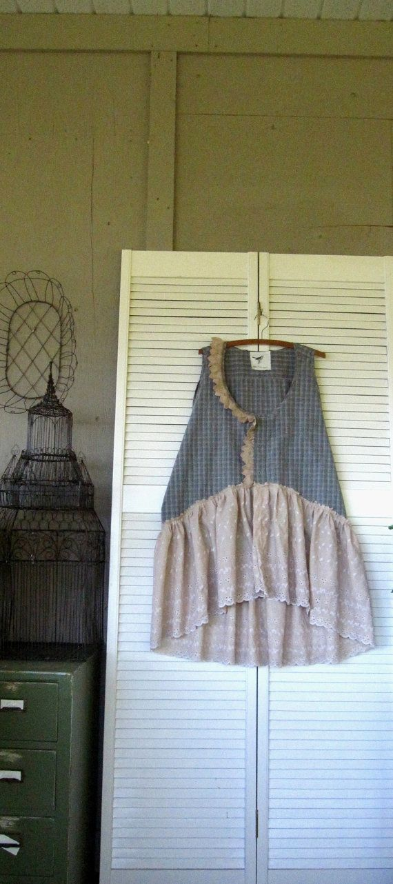 upcycled top Romantic Bohemian dress by lillienoradrygoods on Etsy
