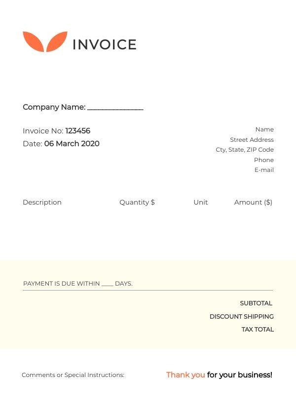Printable Invoice Sample Template Invoice Sample Printable Invoice Invoice Template