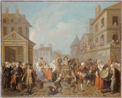 Le Carnaval des rues de Paris, 1757 by Etienne Jeaurat, (Musée Carnavalet)