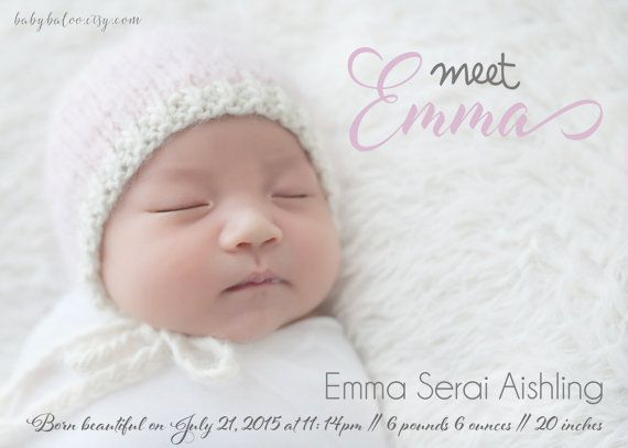 announcement for new born baby