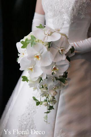 胡蝶蘭のキャスケードブーケ ys floral deco @ウェスティンホテル東京