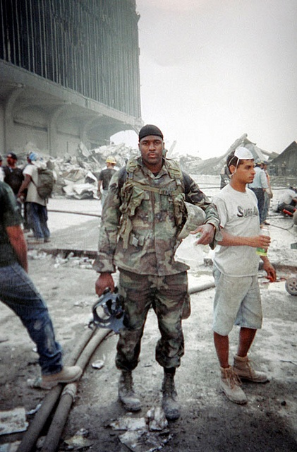 Rescue and Recovery Workers at the remains of the World Trade Center Towers ~ 9/11~ Never Forget!!
