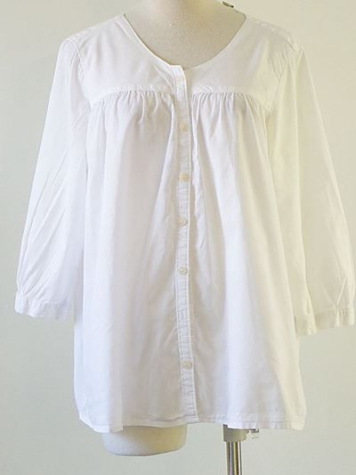 just right white blouse...