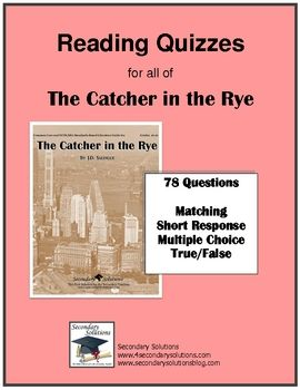 Catcher in the rye literary analysis essay