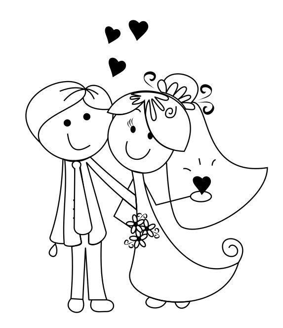 Desenhos de noivinhos para o convite                                                                                                                                                      Mais