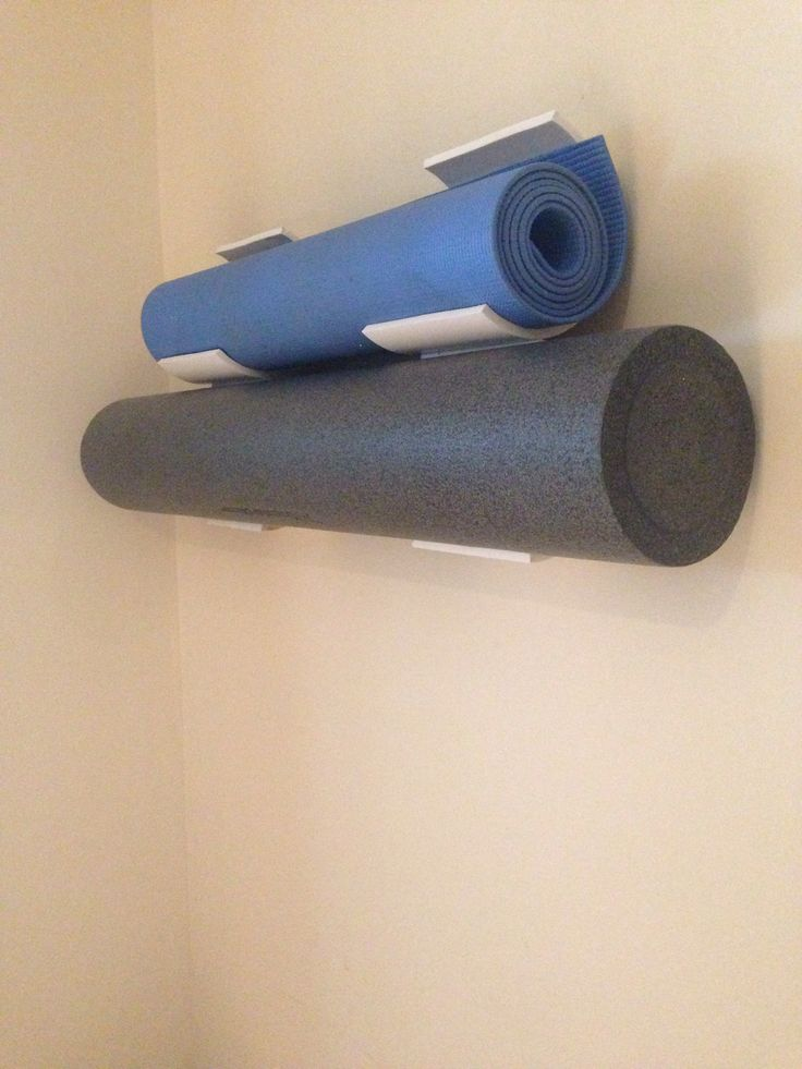 PVC pipe for home gym organization