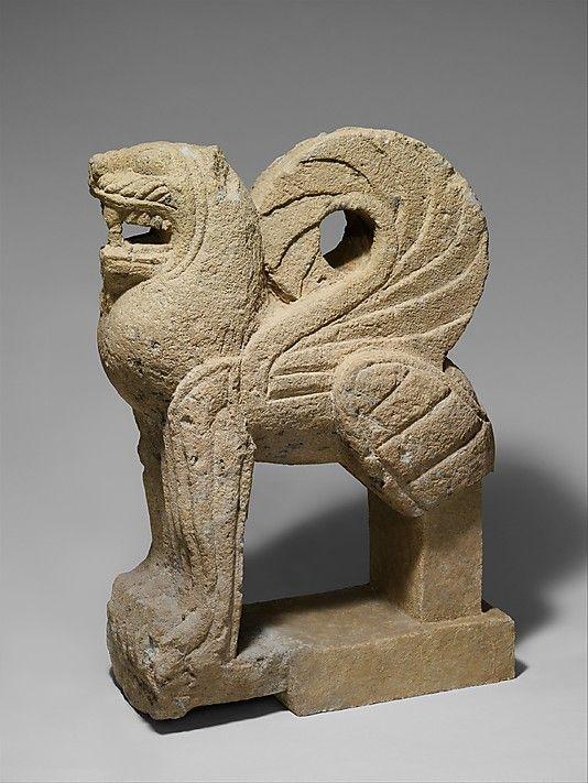*Nenfro statue of a winged lion  Period: Archaic Date: ca. 550 B.C. Culture: Etruscan Medium: Nenfro
