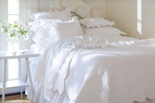 Laura Crib Quilt - traditional - crib accessories - by Taylor Linens
