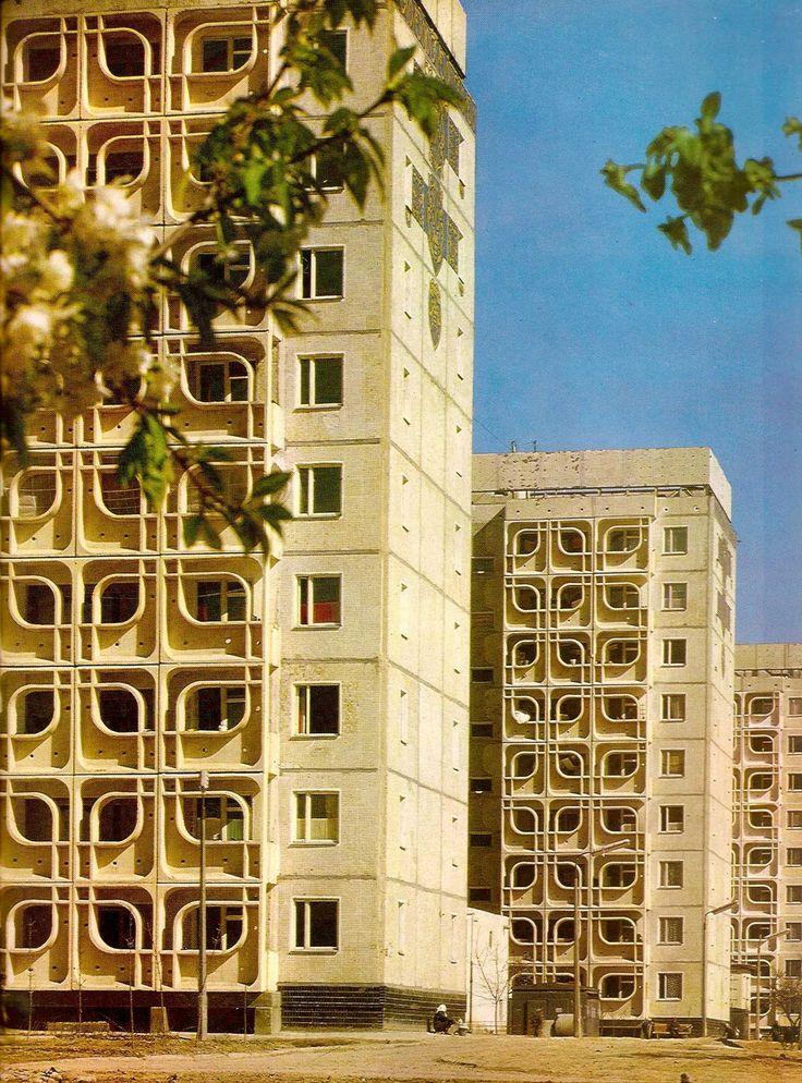 S.Adylov, I.Koptelova and G.Korobovtsev, Blocks of Flats in Residential Area C 27, Tashkent, Uzbekistan, 1973
