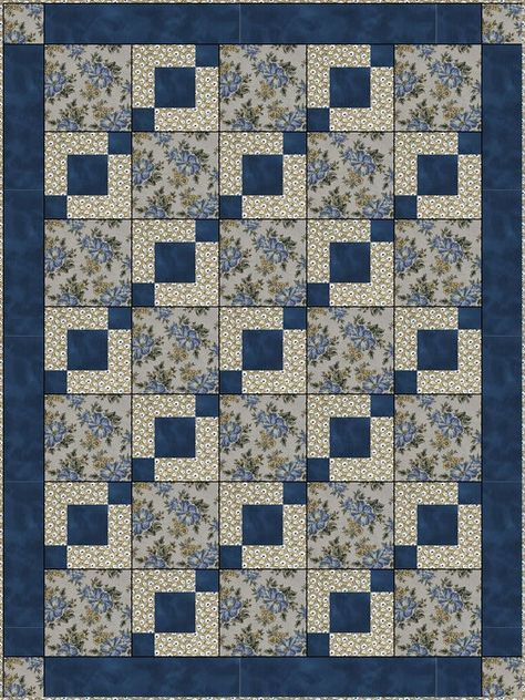 Downloadable Stepping Stones Quilt Pattern Easy 3 Yard