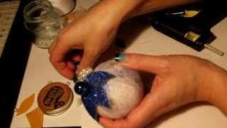 елочные игрушки декупаж автор Мария Терехина. Уроки вязания на видео