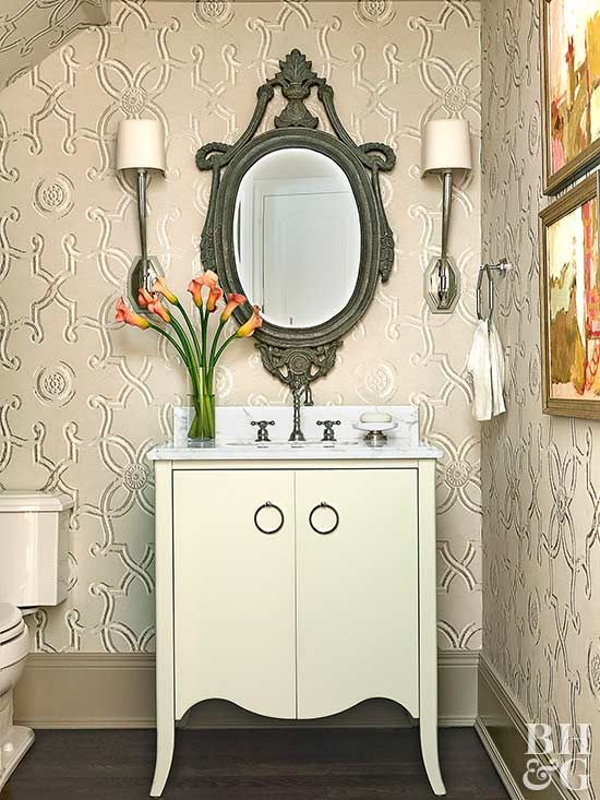 25 best ideas about small powder rooms on pinterest for Powder room door size