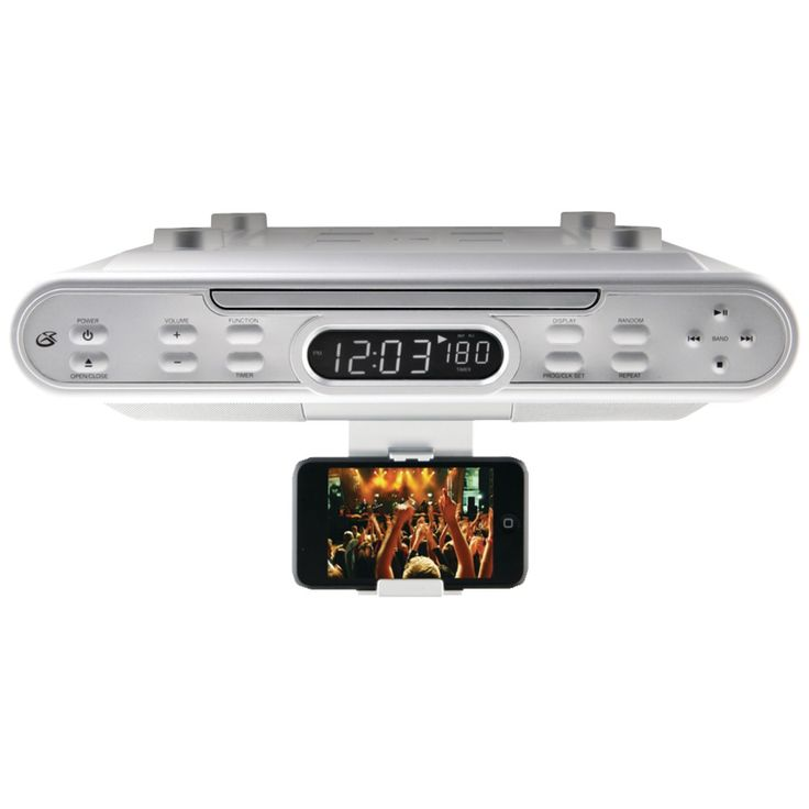 Gpx Kc220s Under Cabinet Cd Player With Am Fm Radio Mp3 From Kitchen Radios