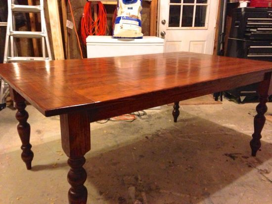 Build Your Own Turn Style Leg Farmhouse Table  www tommyandellie com. 24 best Farmers Tables images on Pinterest