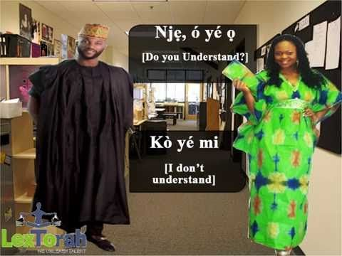 Conversations in Yoruba Language Part 1
