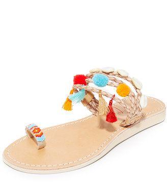 Cocobelle Kopi Toe Ring Sandals - $122.00