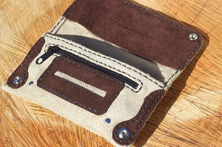 Tobacco Pouch brown suede pouch by GENERIKLEATHER on Etsy