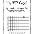 At the beginning of the year I make data binders for each student. Inside their binder I keep an IEP goal page for each of their IEP goals. I put t...