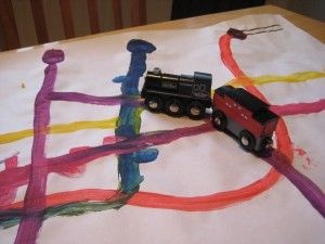 Train-inspired art and maths shape pictures (painting a map of the Underground)